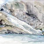 Briksdal Gletscher (O2) / Watercolour 17x24cm © janinaB.