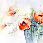 Poppies I 2009 (8) / Watercolour 30x40cm  © janinaB.