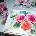 Rosenstudie (17) / Watercolour 24x33cm