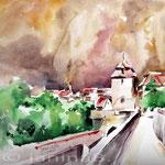 """Rothenburg ob der Tauber"" / Aquarell 30x40cm"