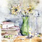 auf-meinen-Schreibtisch-(7)  / Watercolour 30x40cm