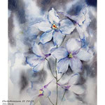 Delphinium II 2018 / 30x40cm (22) / Watercolour by ©janinaB.