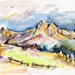 Hans Gasmanns Tirol (O2) / Watercolour 18x25cm © janinaB.