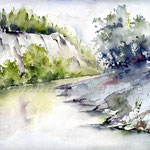 Landscape VIII 2010 (19) / Watercolour 24x32cm © janinaB.