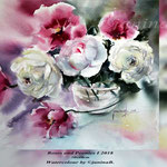 Roses and Peonies I 2018 (21) / 30x40cm Watercolour by ©janinaB.