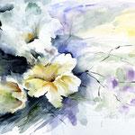 Flower_(1) / Aquarell auf dicker Pappe 24x34cm