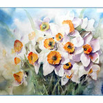 Osterglocken I 2014 (15) / Watercolour 30x40cm