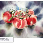 Tomatoes I 2017 / Watercolour 30x40cm on Arches CP © janinaB. 2017