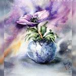Anemone I 2018 (20) / 30x40cm Watercolour by ©janinaB. Photo source: pinterest