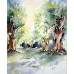 Olivenhain I 2013 (11) / Watercolour 30x40cm