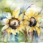 Sunflowers II 2011 (5)  / Watercolour 24x34cm