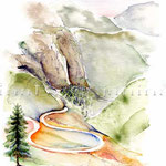Dolomiten ((O2) / Watercolour 17x24cm ©janinaB.