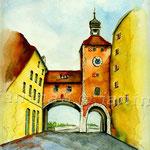 Regensburg-(12) / Watercolour 24x32cm ©janinaB.