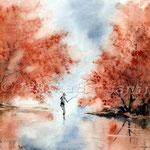 Landscape I 2011 (2) / Watercolour 30x40cm  ©janinaB.
