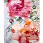 Rosen XIX (5) / Aquarell 24x34cm auf Vang © janinaB.