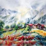 Landscape I 2018 (21) / 30x40cm Watercolour by ©janinaB.