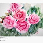 Rosen XVII (5)/ Aquarell 30x40cm  © janinaB.