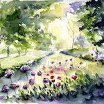 Blumen im Park (O2) / Watercolour 17x24cm © janinaB. / insp. Kate Kos