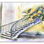 Treppe (2) / Watercolour 30x40cm  ©janinaB.