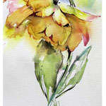 Impression flowers I 2017 / Watercolour 14x20cm on Fabriano CP © janinaB. 2017