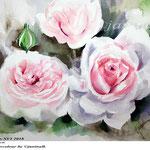 Roses XVI 2018 / 27x34cm / (21) / Watercolour by ©janinaB.