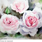 Roses XVI 2018 / 27x34cm / (21) / Watercolour by ©janinaB.