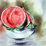 Watermelon II 2018 (25) / 30x40cm / Watercolour by ©janinaB.