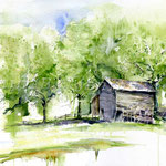 Landscape IX 2011 (12) / Watercolour 30x40cm  ©janinaB.
