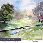 Landscape I 2016 / Watercolour 25x32cm Hahnemuehle Torchon © janinaB. 2016