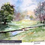 Landscape I 2016 (2)/ Watercolour 25x32cm Hahnemuehle Torchon © janinaB. 2016