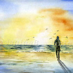 am Meer (8) / Watercolour 24x32cm