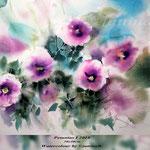 Petunias I 2018 / 30x40cm (22) / Watercolour by ©janinaB.