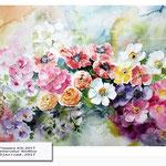 Flowers XIII 2017 (21) / Watercolour 30x40cm ©janinaB.2017