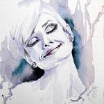 Audrey Hepburn I (O5) / Watercolour 27x17,5cm on Fabriano Studio  © janinaB. 2016