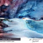 glacier melt (O3) / Watercolour 17x24cm Lukas © janinaB. 2016