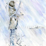 Rain (13) / Watercolour  24x34cm