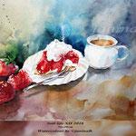 Still life XII 2018 (M1) / 36x48cm Watercolour by ©janinaB.