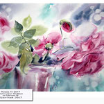 Roses IV 2017 / Watercolour 30x40cm on Fabriano CP © janinaB. 2017