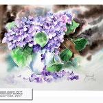 sweet violet I 2017 / Watercolour 30x40cm © janinaB. 2017