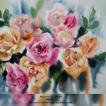 Roses X 2018 (19) / 30x40cm Watercolour by ©janinaB.