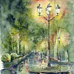 Nachts im Park (6) / Watercolour 30x40cm © janinaB.