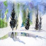 Landscape X 2009 (O1) / Watercolour 18x24cm  ©janinaB.