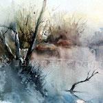 Landscape V 2011 (6) / Watercolour 30x40cm  ©janinaB.