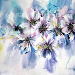 Blumen abstrakt I (18)  / Watercolour 27x35cm