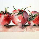 Tomaten II 2012 (O4) / Watercolour 12x17cm