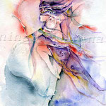 Indian summer (O6) / Watercolour 17x24cm