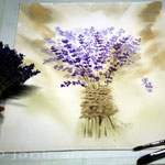Lavendel-getrocknet (5) / Watercolour 30x40cm