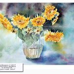 Sunflowers V 2017 / Watercolour 30x40cm on Arches CP © janinaB. 2017