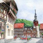 Stolberg Harz I (2) / Watercolour 30x40cm ©janinaB.