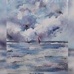 See I 2018 (O3) / 15x20cm Watercolour  by ©janinaB.